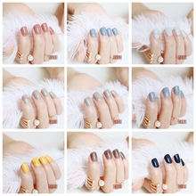 New fashion beautiful candy color Nail finished false nails short paragraph 24pcs 65 section Optional