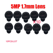 DIY 10PCS/Lot 5Megapixel HD 1.7mm 185 Degrees Fish Eye Wide Angle View Board Lens 5MP 1/2.5″ M12 CCTV / IP Camera Free Shipping