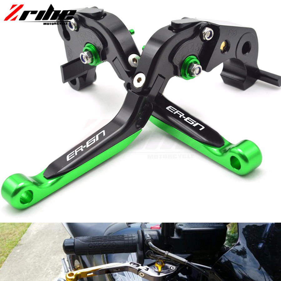 Motorbike Brake /Motorcycle Brakes Clutch Levers For KAWASAKI NINJA ER6N ER 6N ER-6N 2009 2010 2011 2012 2013 2014 2015 2016 for kawasaki ninja 250 ninja250 2008 2015 ninja 300 ninja300 2013 2015 motorcycle aluminum short brake clutch levers black
