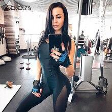 Women Sexy Active Yoga Gym Onesies Suit Push Up Black Mesh Patchwork Mujer Bodysuit Fitness Running Hip Up Flex Femme Leggings
