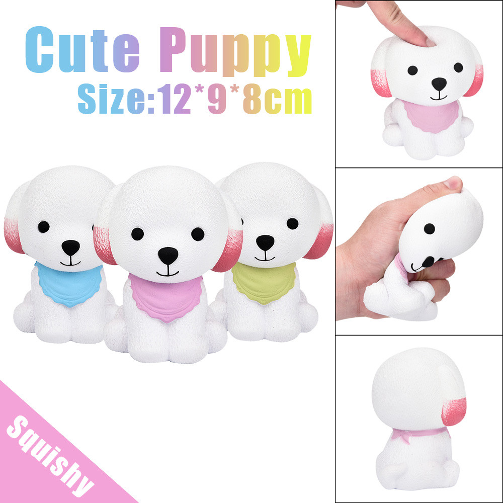 Squishy Toy Adult decompression toys 12cm Jumbo Squishy Cute Puppy Scented Cream Slow Rising Squeeze Decompression Toys MAY 17