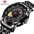 Klassische Design Skeleton Mechanische Uhr Männer Automatische Uhren Sport Luxus Top Marke Edelstahl Leder Uhr Relogio-in Mechanische Uhren aus Uhren bei