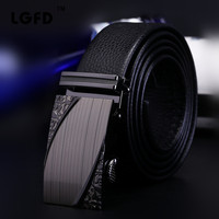 2016b1 Men Formal Business Top Full Grain Cowhide Genuine Leather Dress Belts With Carved Ratchet Buckle