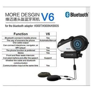Image 2 - English Version Vimoto V6 600mAh Motorcycle Helmet Bluetooth Intercom Headset Multi functional Stereo Headphones For Cell Phones