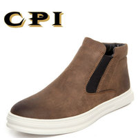CPI 2018 New Men S Winter Ankle Boots British Style All Match Comfortable Snow Boots Keep