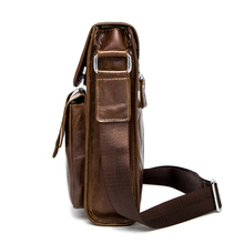 WESTAL Genuine Leather bag men bags men's messenger small flap shoulder crossbody bags for men Handbags men's leather bag 366