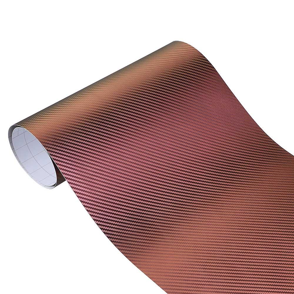 ORANGE CARBON FIBER Wrap Vinyl Sheet Sticker 300mm*1.27m