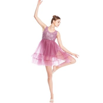 MiDee Lyrical Costume Dance Dress Stage Competition Performance Dresses Clothes