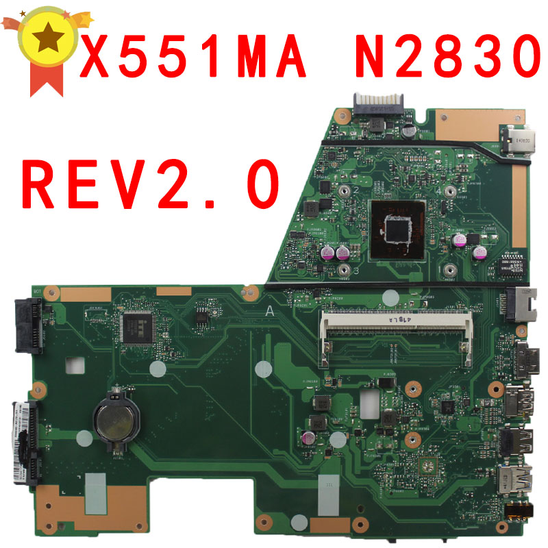 For Asus X551MA Laptop Motherboard Notebook N2830 N2815 CPU 60NB0480 MB1501 203 100 Tested Before Ship