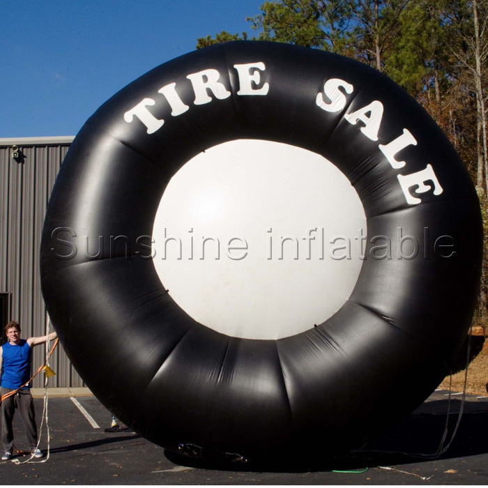 Cheap 3M big sale inflatable tire balloon, inflatable tire advertising