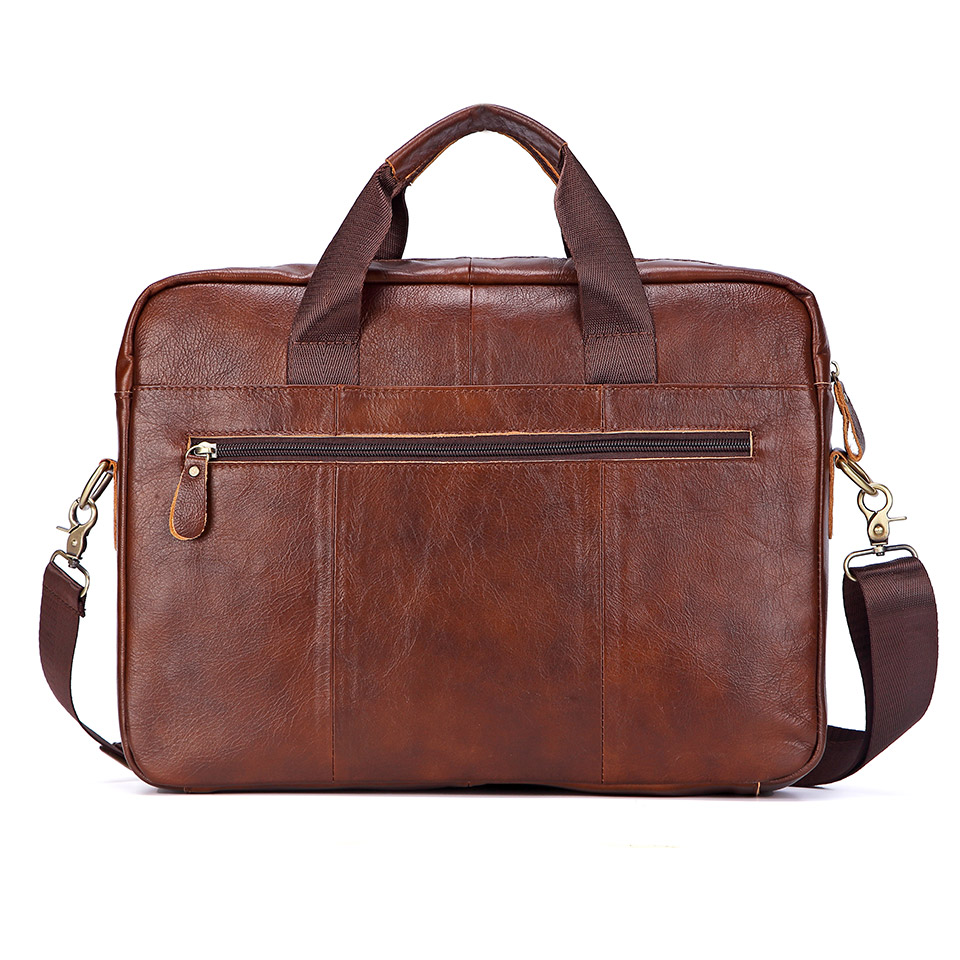 Men Genuine Leather Handbags Casual Leather Laptop Bags Male Business Travel Messenger Bags Men's Crossbody Shoulder Bag
