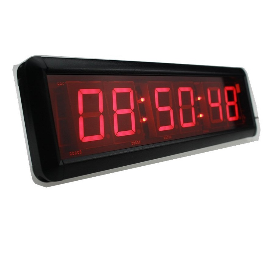 1.8'' LED Wall Clock Jumbo Stopwatch Countdown Count Up In Minutes Seconds Hundreds Of A Seconds