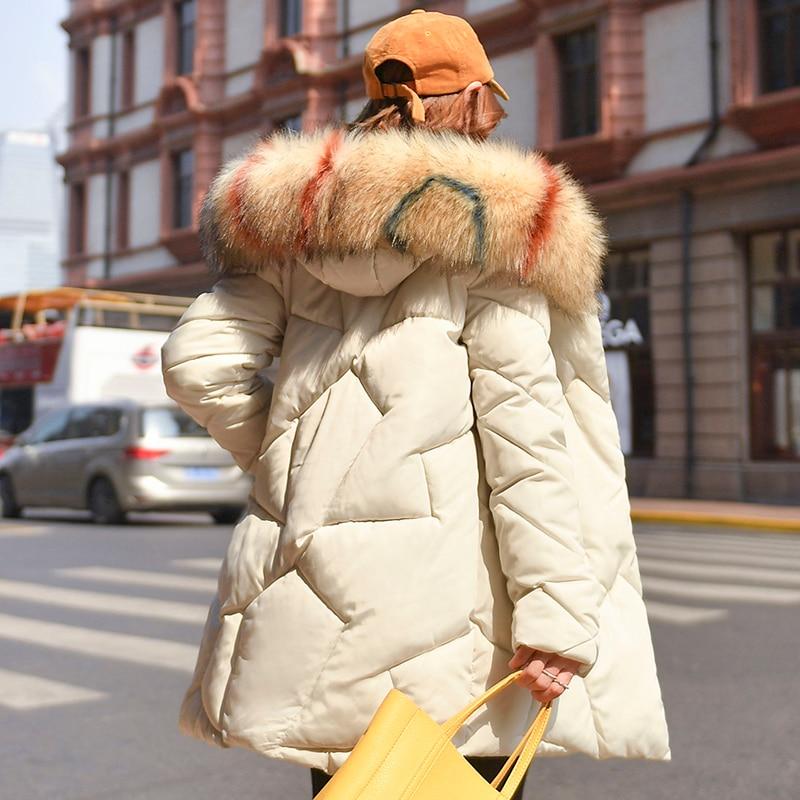 X-Long 2020 New Arrival Fashion Slim Women Winter Jacket Cotton Padded Warm Thicken Ladies Coat Long Coats   Parka   Womens Jackets