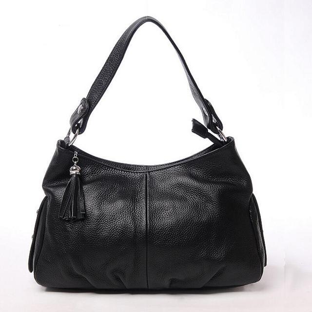 100% Couro Genuíno Das Mulheres Sacos Crossbody Couro Top Ladies Messenger Bags Decoração Borla Bolsas de Ombro Feminino Bolsas KM44