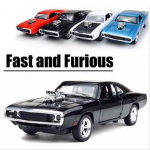 1:32 Scale Alloy Diecast Car Model Kids Toys 1/32 Fast & Furious 7 Dodge Charger Pull Back Toy Cars Collection Gift
