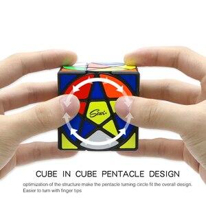 Image 5 - Qiyi Mofangge مكعب الخماسي الهندسة شكل نجمة مكعب ستيكيرليس سرعة مكعب الألغاز مكعبات سحرية لعب للأطفال مسلية