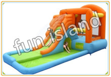 Party used commercial inflatable font b bouncers b font slide inflatable toy on sale