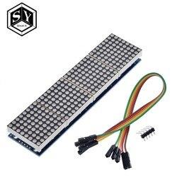 Точечный матричный модуль Great IT MAX7219 для микроконтроллера Arduino, 4-в-1 дисплей с линией 5P, 1 шт.