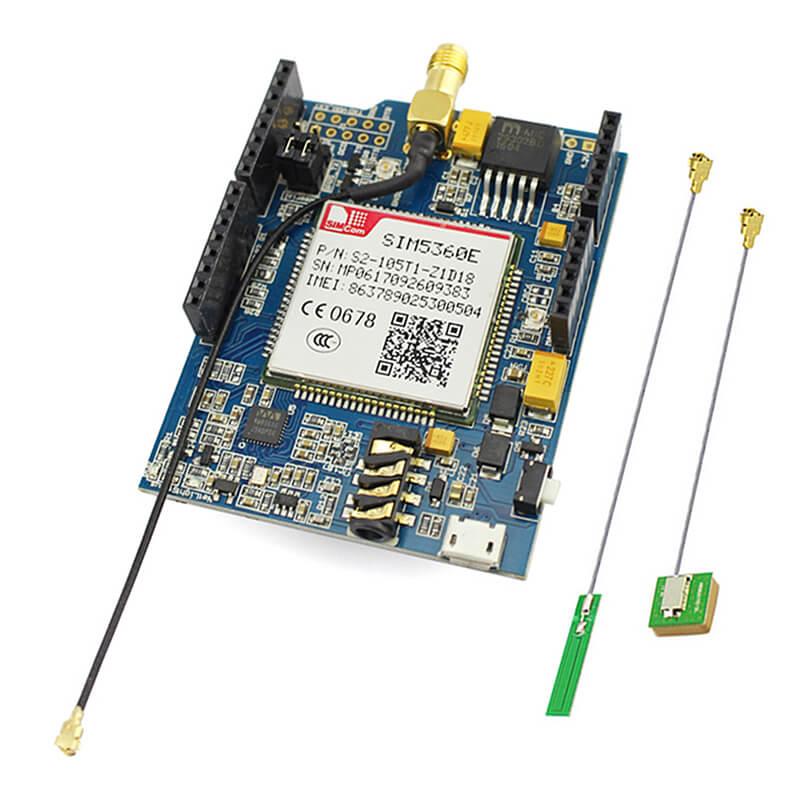Elecrow GSM/GPRS/EDGE SIM5360E 3G Bouclier pour Arduino Uno Mega Module A-GPS Micro SIM Carte 3G Réseau eCALL Conseil de Développement