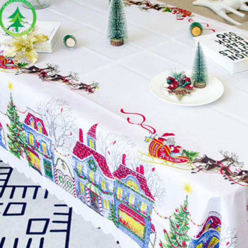 Christmas Themed Pvc Easy Wipe Clean Vinyl Table Cloths Xmas Party