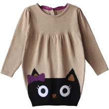 Promotion Children Girls Sweaters Computer Knitting Embroidery For 1-2 Years Girls