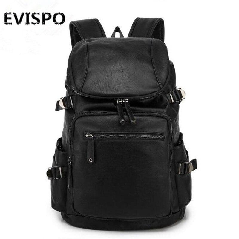Designer men leather backpack high quality black famous ...
