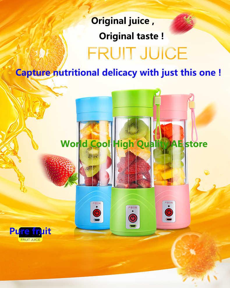 400ml Portátil USB Copo Espremedor de Frutas Máquina de Mistura do smoothie liquidificador juicer lento extrator de jugo Blendjet exprimidor kitfort