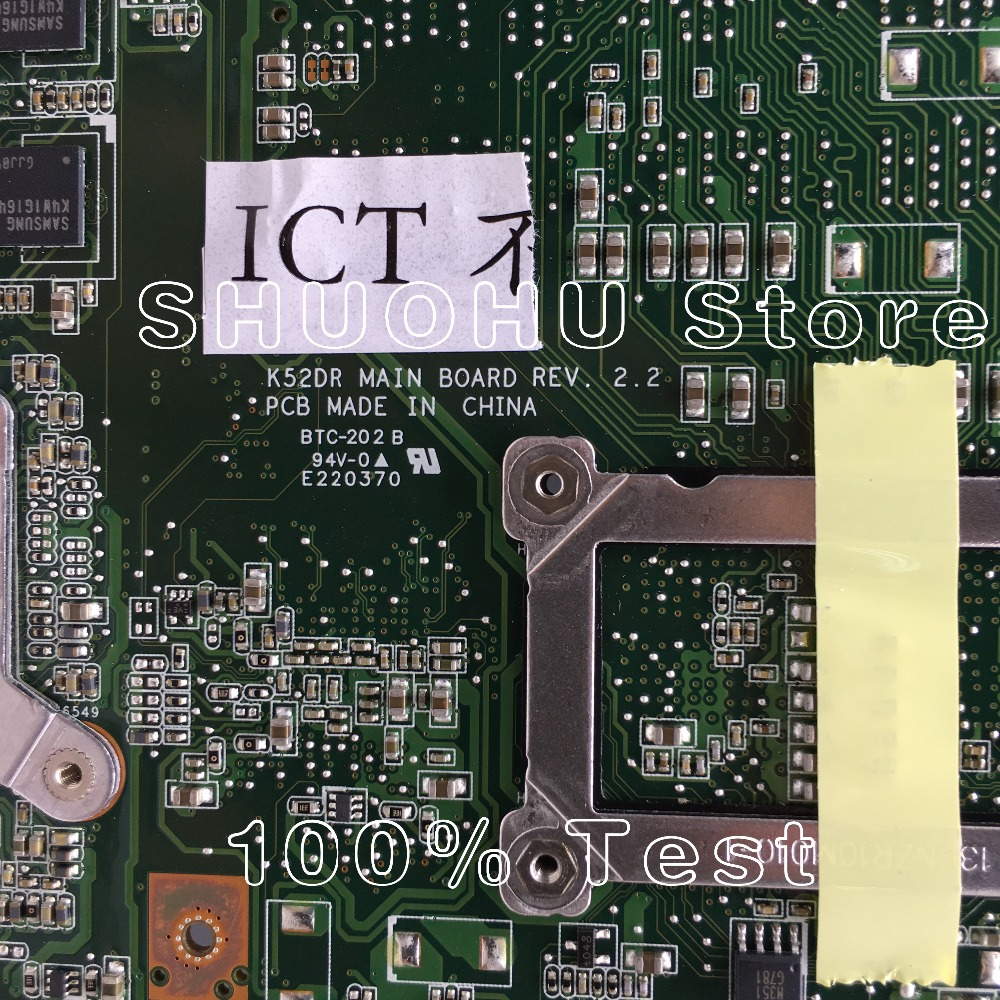 KEFU For ASUS K52DR K52D K52DE A52D A52DR A52DE 1GB Video HD5470 Laptop Motherboard Tested 100% work original Mainboard 5