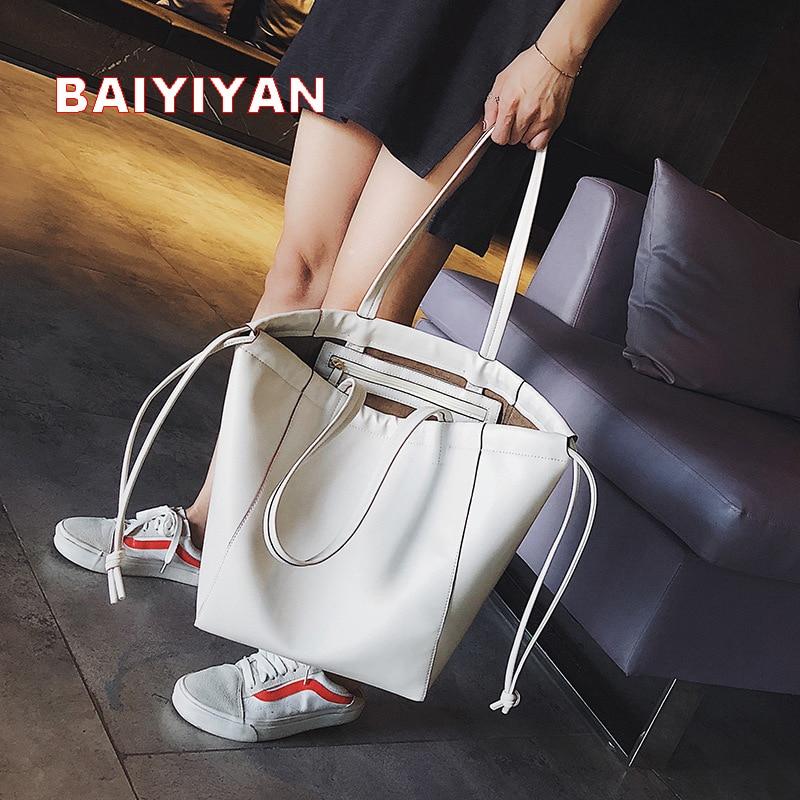 Luxury Brand 2018 Women Handbags High Quality Pu Leather Big Tote Bag Female Fashion Shoulder Bag Casual Handbag For Girl