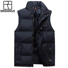 2017 бренд Для мужчин жилет пальто куртки без рукавов жилеты Homme зимние Повседневное мужской Большие размеры 4XL теплая куртка жилет Для мужчин жилет X371