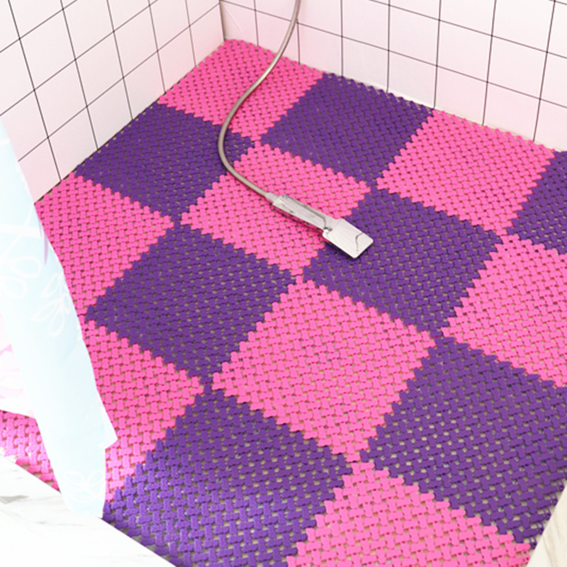 2019 New PVC free spline anti skid waterproof mat bathroom ...