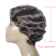 Superfect короткие парики из человеческих волос для женщин океан волна Remy натуральный цвет человеческих волос парик 8 дюймов бразильский парик