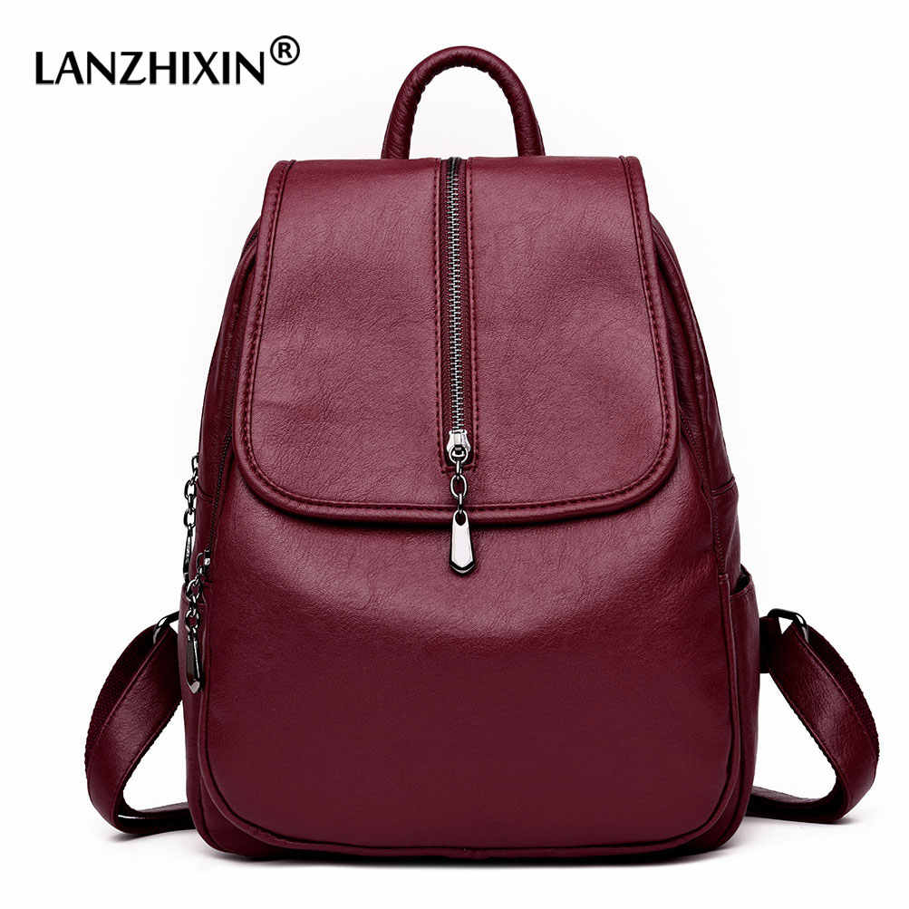 1eb696fcd Detail Feedback Questions about Women Backpacks for Women Soft Leather  Travel Backpacks Ladies Casual Backpacks for Teenager Girls Mochila Feminina  School ...