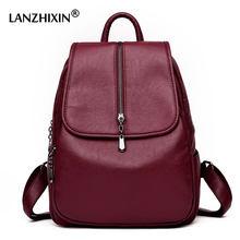 a41eb8e528234 Kadın Sırt Çantaları için Kadın Yumuşak Deri seyahat sırt çantaları  Bayanlar Rahat Sırt Çantaları Genç Kızlar
