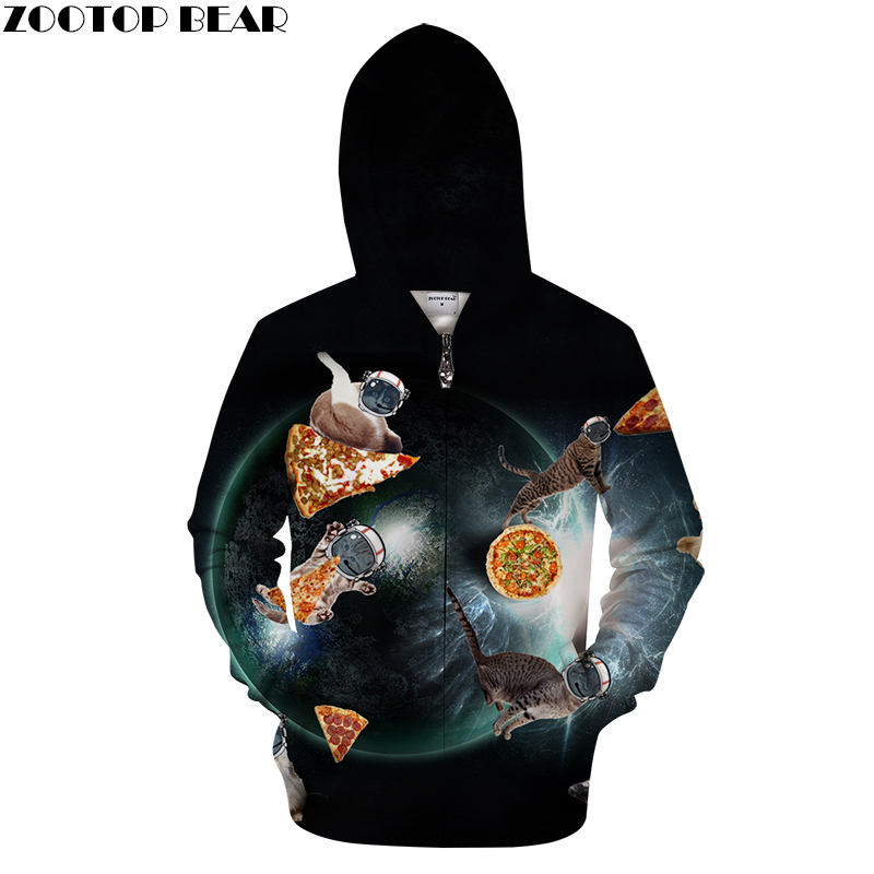Pizza Cat Hoodies Zipper Hoodie Men Women Cardigan Sweatshirts Fashion Brand Jakcets Unisex Tracksuits 3D Printed Streetwear