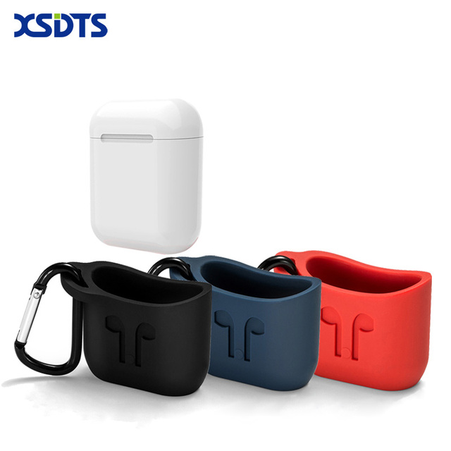 huge discount fe337 d06b4 US $3.99 |XSDTS For Apple Airpods Silicone Case Sleeve For AirPods Charging  Case Cover Free Lanyard For Airpods Earphone Case-in Phone Pouch from ...