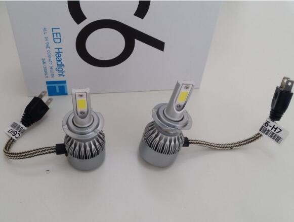 FREE SHIPPING CHEAPEST DLAND C6 AUTO LED BULB LAMP KIT LIGHTS 4800LM IP68 H1 H3 H4