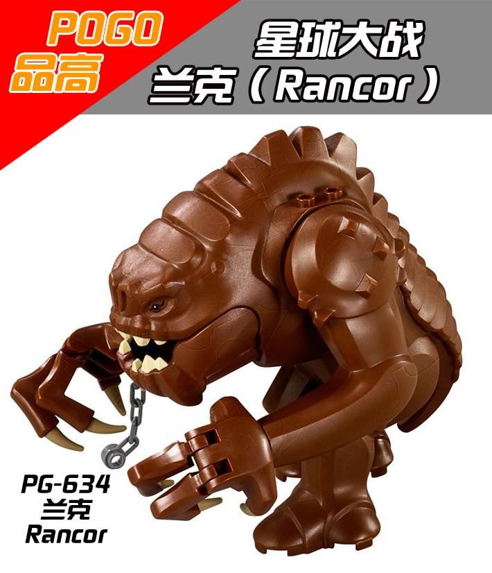 1PCS Rancor star wars building blocks figures city weapons original toys accessories font b lepin b