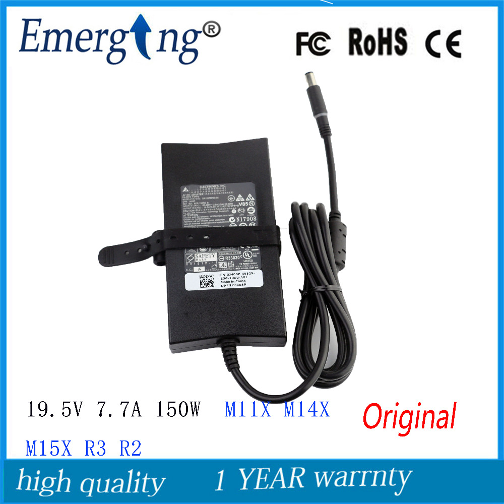 19.5V 7.7A 150W  7.4X5.0mm Original AC Laptop Adapter For Dell  Inspiron 5150 5160 9100 9200 PA-5M10  Alienware M11X M14X M15X 19.5V 7.7A 150W  7.4X5.0mm Original AC Laptop Adapter For Dell  Inspiron 5150 5160 9100 9200 PA-5M10  Alienware M11X M14X M15X