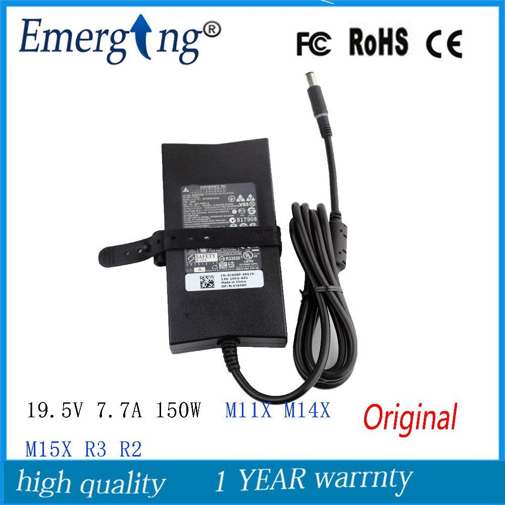 19.5 V 7.7A 150 W 7.4X5.0mm Original AC Adaptateur pour Ordinateur Portable Pour Dell Inspiron 5150 5160 9100 9200 PA-5M10 Alienware M11X M14X M15X