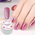 2017 Pretty color glitter nail gel Sequins and glitter powder uv gel nail polish nail glitter dust for nail art salon