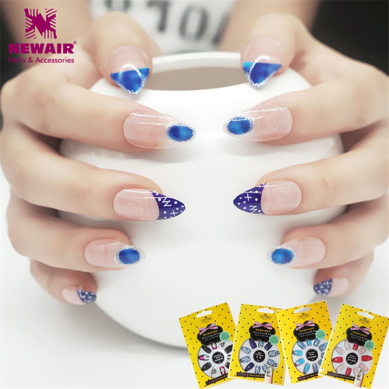 High Quality Stiletto Nails with Glue Full Cover False Nails Acrylic ...