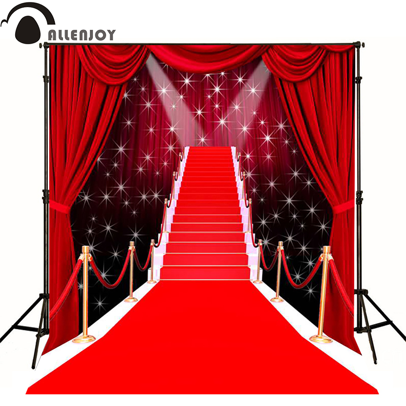 Allenjoy photographic background Stage shine red carpet model photography fantasy send folded vinyl fotografie achtergrond