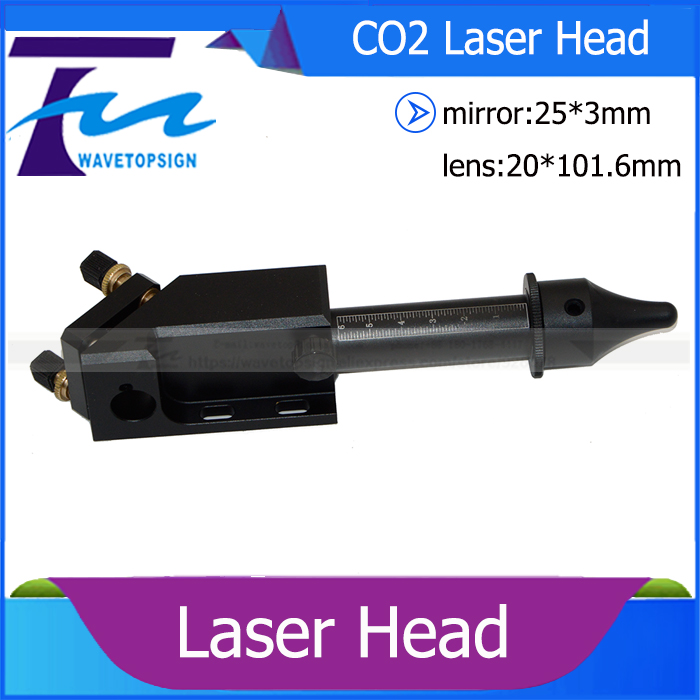 laser head diameter 20mm lens 101.6mm reflect mirror 25*3mm use for co2 laser engraving and cutting machine laser path system co2 laser machine laser path system include first reflect mirror holder second mirror holder and laser head