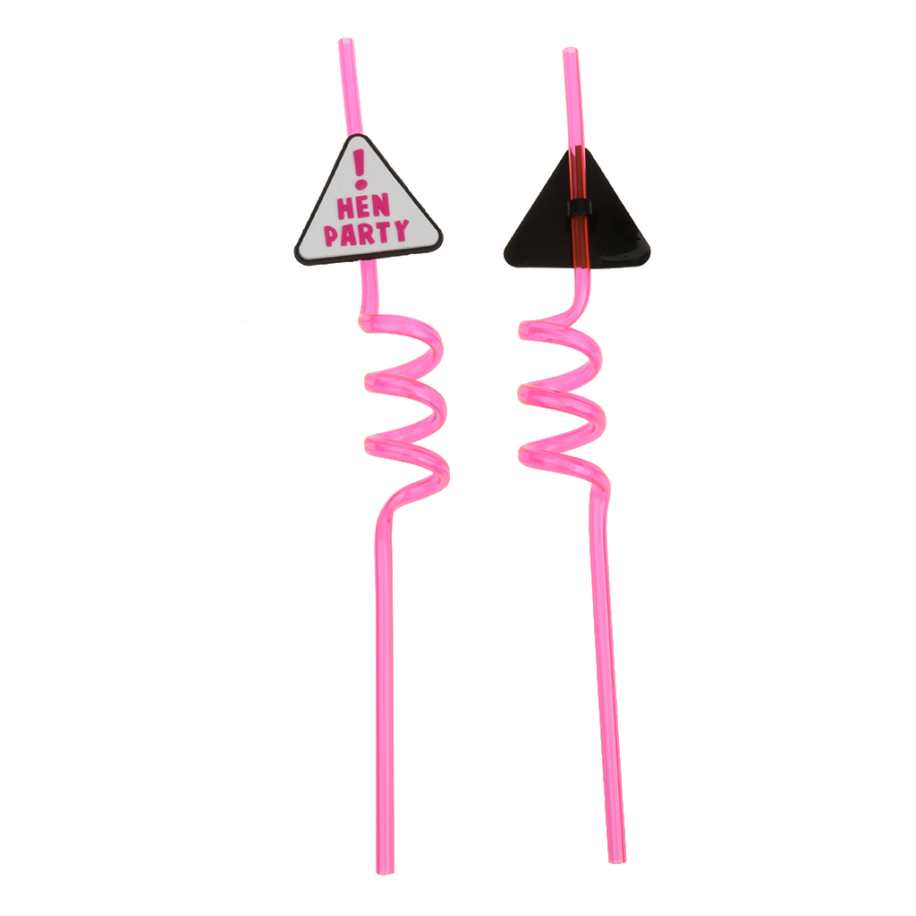 Hot Sale 10pcs Hen Party Plate Drinking Straw for Hen Night Girls ...