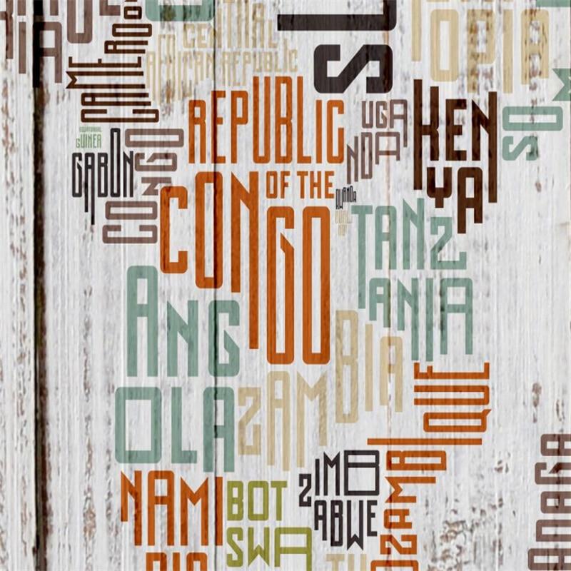Купить с кэшбэком wellyu Retro Vintage English Letters World Map Wood Mural Wall Custom Large Mural Green Wallpaper papel de parede para quarto