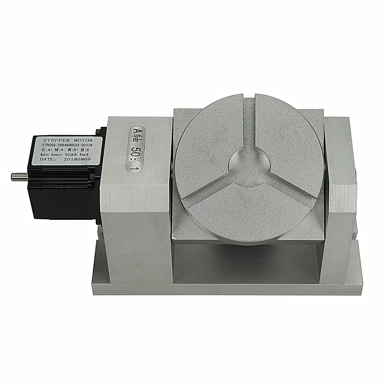 CNC Rotary Axis Harmonic Gearbox Dividing Head CNC 4axis Chuck 100mm 5th Axis Tailstock 50:1 Harmonic Reducer For CNC Machine