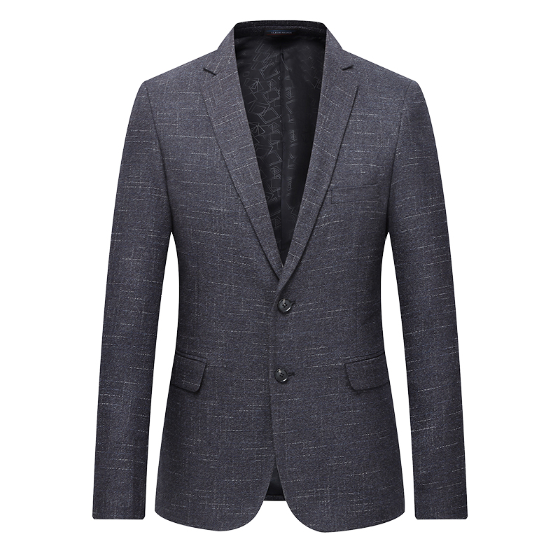 Quality 2020 Spring New Blazer Men Fashion Two Buttons Casual Slim Fit Jackets Men Plus Size Long Sleeve Business Mens Blazer