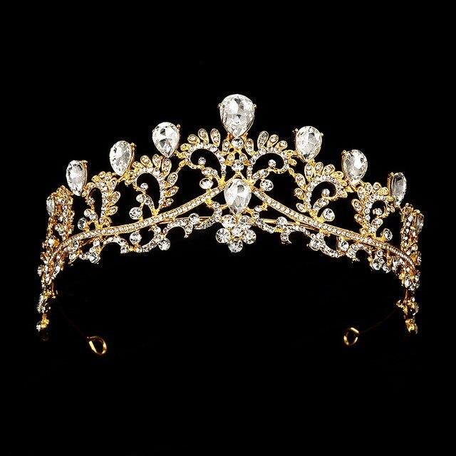 Black Crown wedding tiara headband rhinestones Bridal Hair Accessories vintage crowns bride diadem pageants head hair jewelry