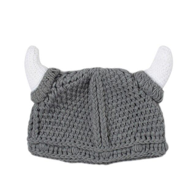 1 unids Linda PRIMAVERA/otoño bebé vikingo sombreros skullies bebé ...